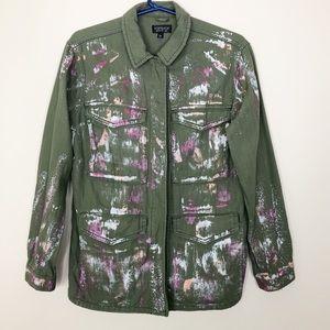 Top shop | Foil Paint Jacket